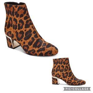 "DKNY ""Corrie"" Leopard Print Calf Hair Ankle Bootie"